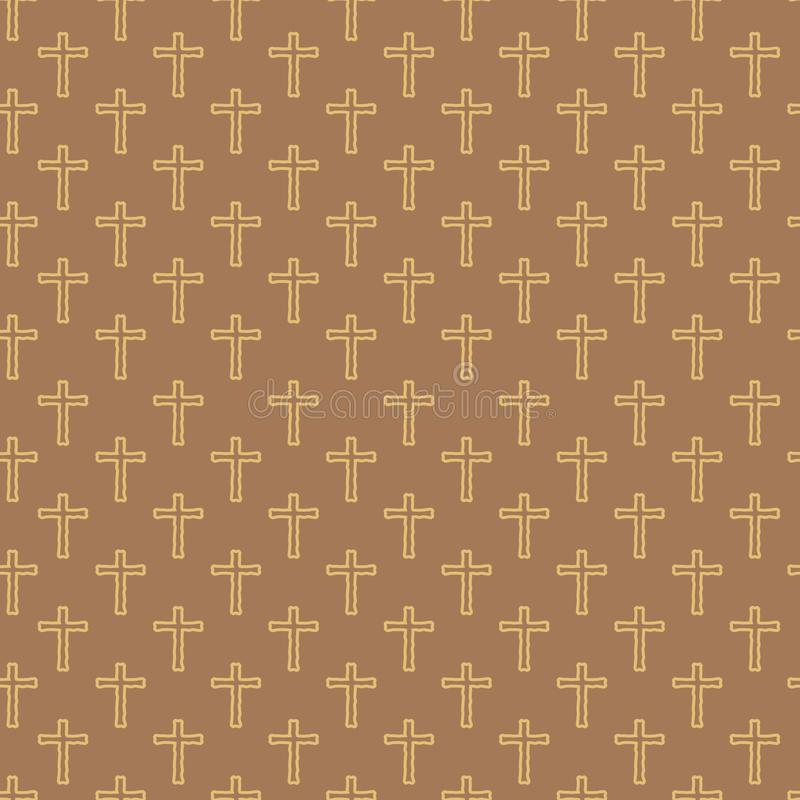 Vector seamless pattern of hand drawing cross vector illustration