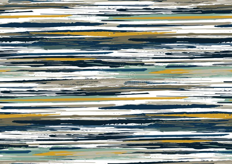 Vector seamless pattern with hand drawn rough edges textured brush strokes and stripes hand painted. stock photography
