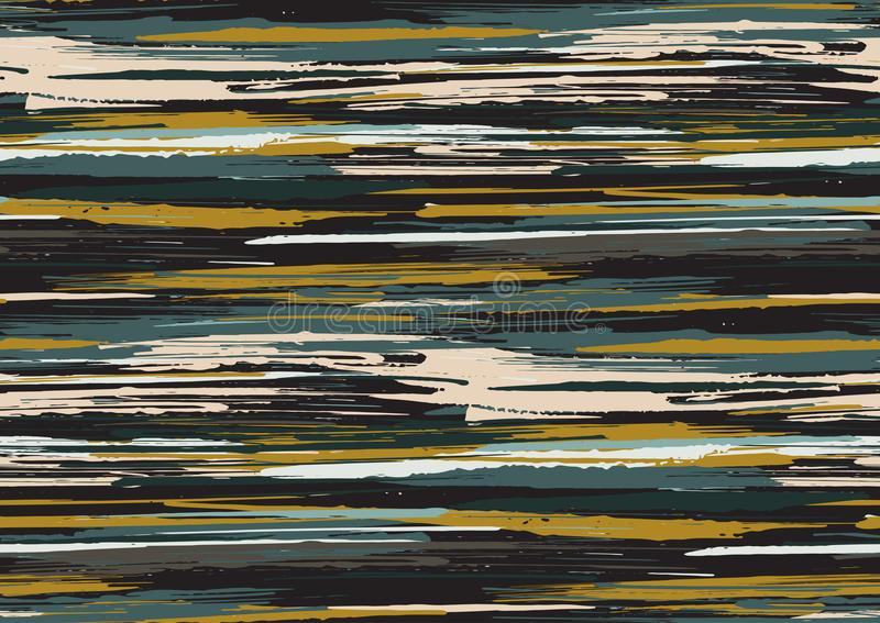 Vector seamless pattern with hand drawn rough edges textured brush strokes and stripes hand painted. royalty free stock photography