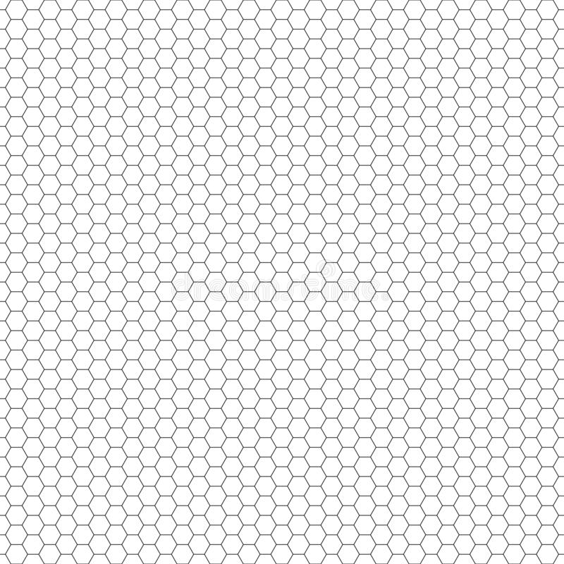 Vector seamless pattern. Hexagon grid texture. Black-and-white background. Monochrome honeycomb design. Vector EPS 10 vector illustration
