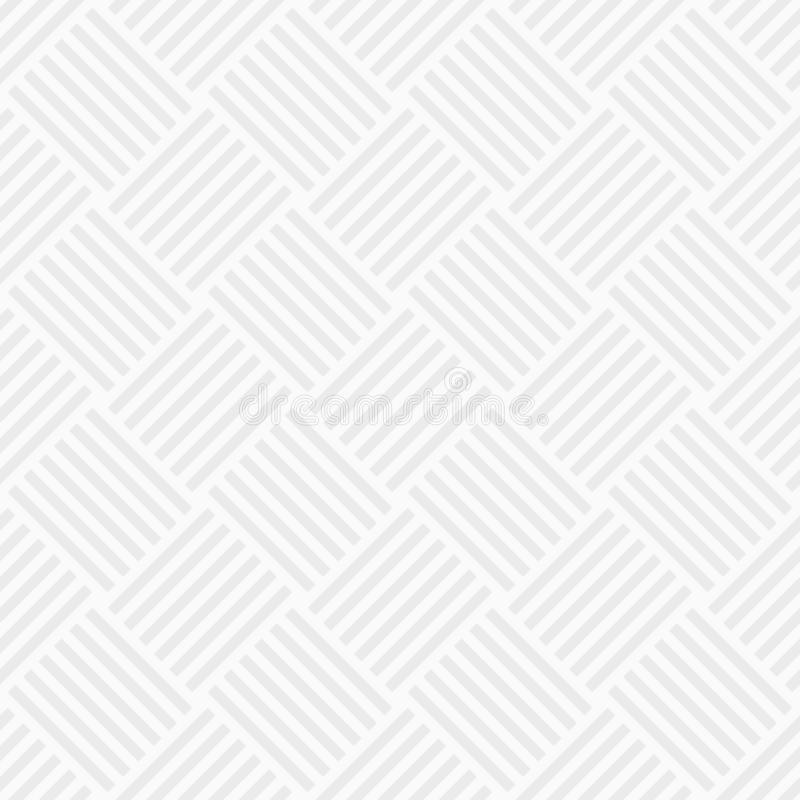 Vector seamless pattern of intertwined stripes. White and gray geometric texture. Modern stylish texture. Regularly repeating diag vector illustration