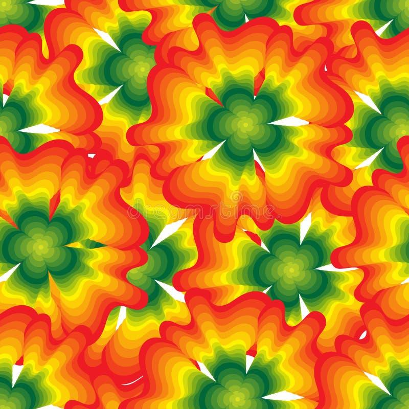 Vector seamless pattern of large orange flowers. royalty free illustration