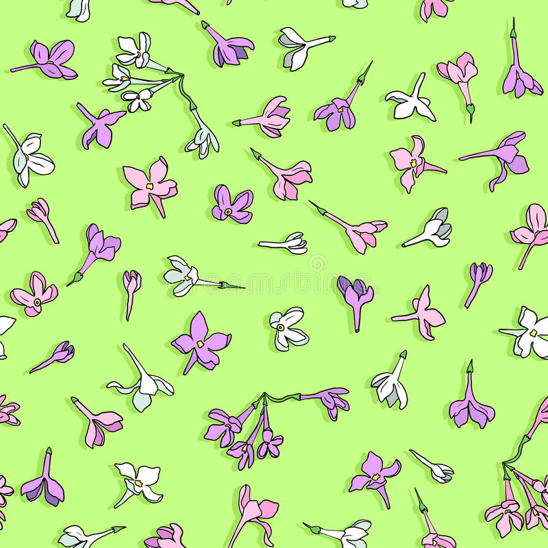 Download Vector Seamless Pattern With Lilac Flowers Stock Vector - Image: 33512760