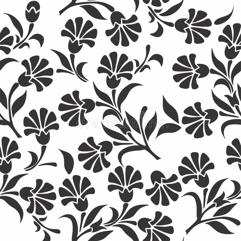 Vector seamless pattern with FLOWERS royalty free stock images