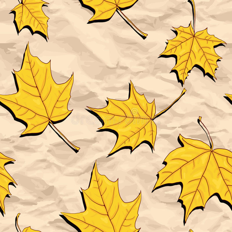 Vector seamless pattern with maple seeds royalty free illustration