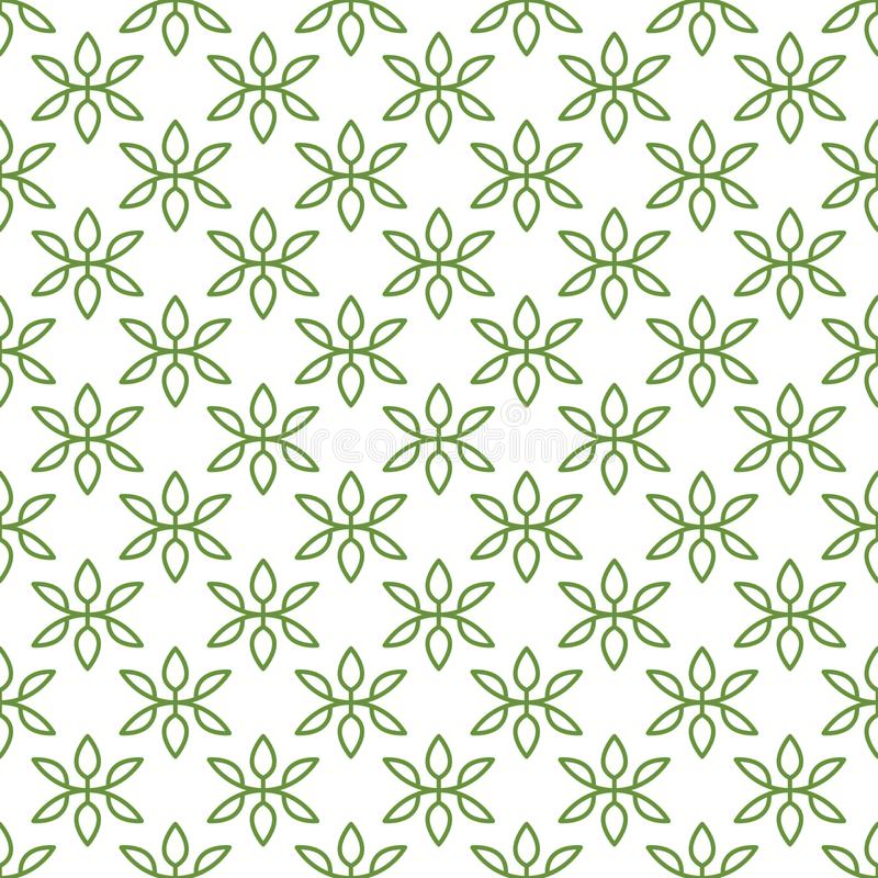 Vector seamless pattern of minimalist petals. Editable colors and size vector illustration