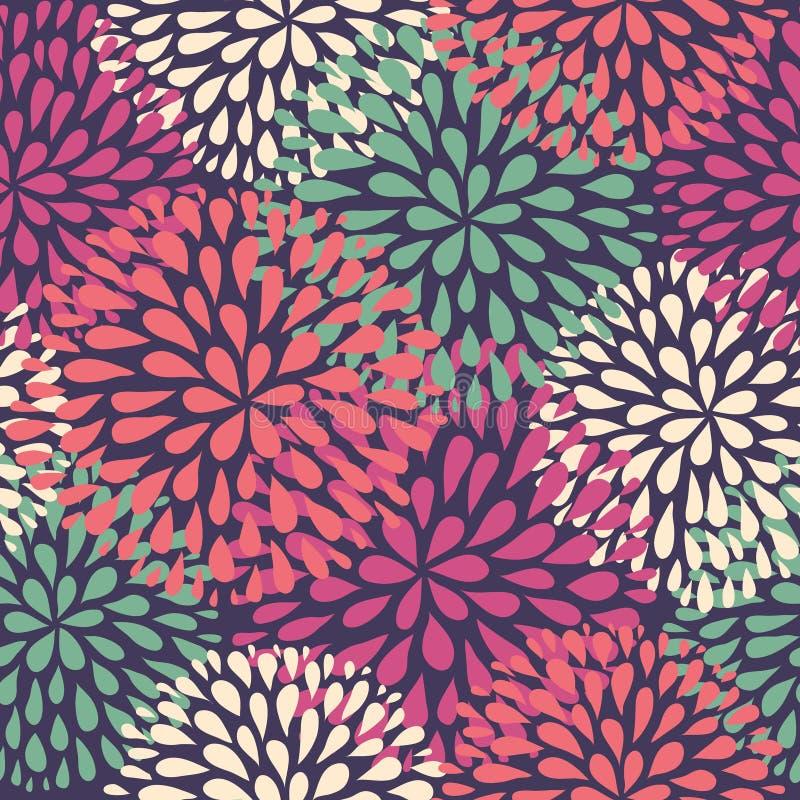 Vector seamless pattern. Modern floral texture. stock illustration