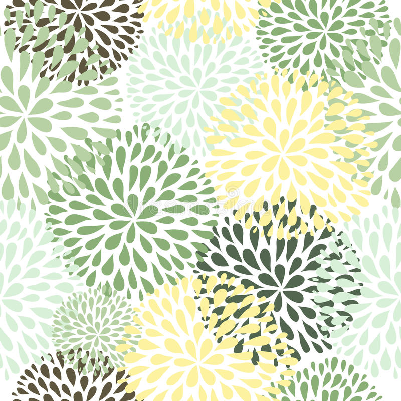Download Vector Seamless Pattern. Modern Floral Texture. Stock Vector    Illustration Of Graphic,