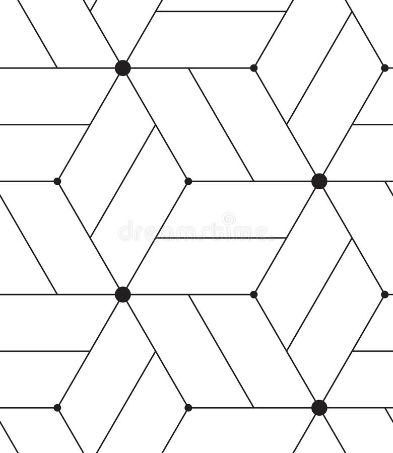 Vector seamless pattern. Modern line geometric background. Vector seamless pattern. Modern geometric background. Texture with lines, grid, rhombus and nodes vector illustration