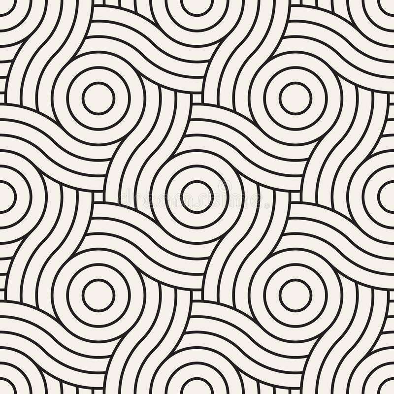 Vector seamless pattern. Modern stylish abstract texture. Repeating geometric tiles royalty free illustration