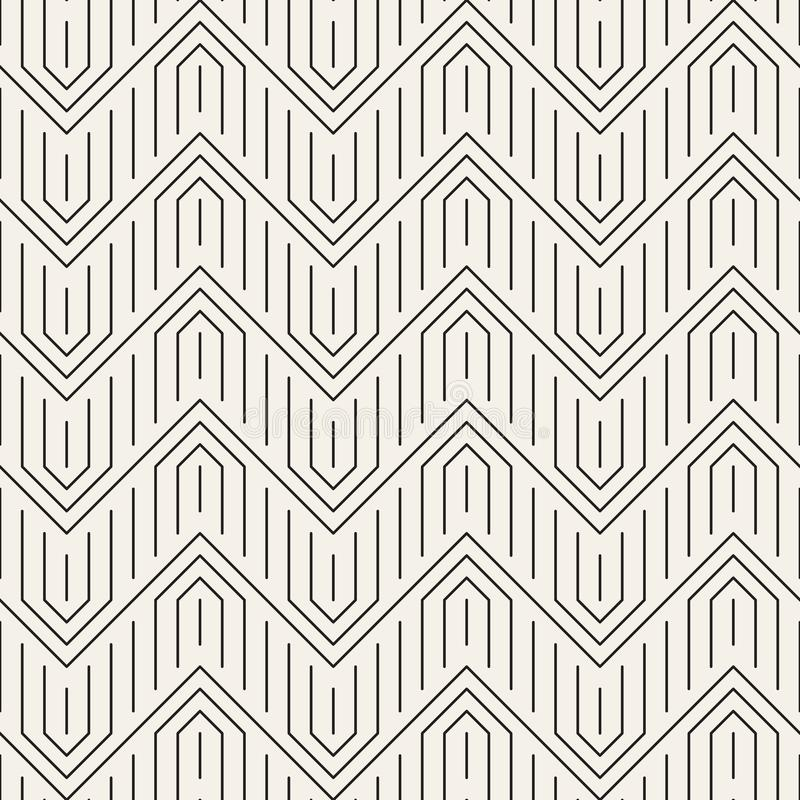 Vector seamless pattern. Modern stylish abstract texture. Repeating geometric tilesn stock illustration