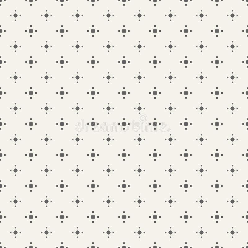 Vector seamless pattern. Modern stylish texture. Polka Dots. Regularly repeating geometric ornament with big and small dots. vector illustration