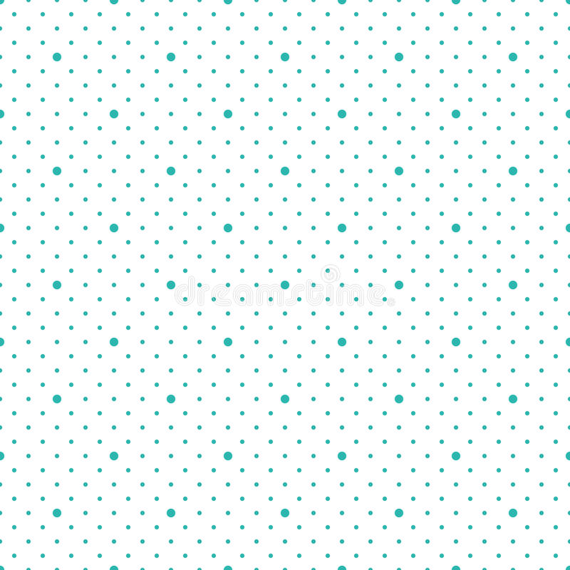 Vector seamless pattern. Modern stylish texture. Repeating geometric dots vector illustration