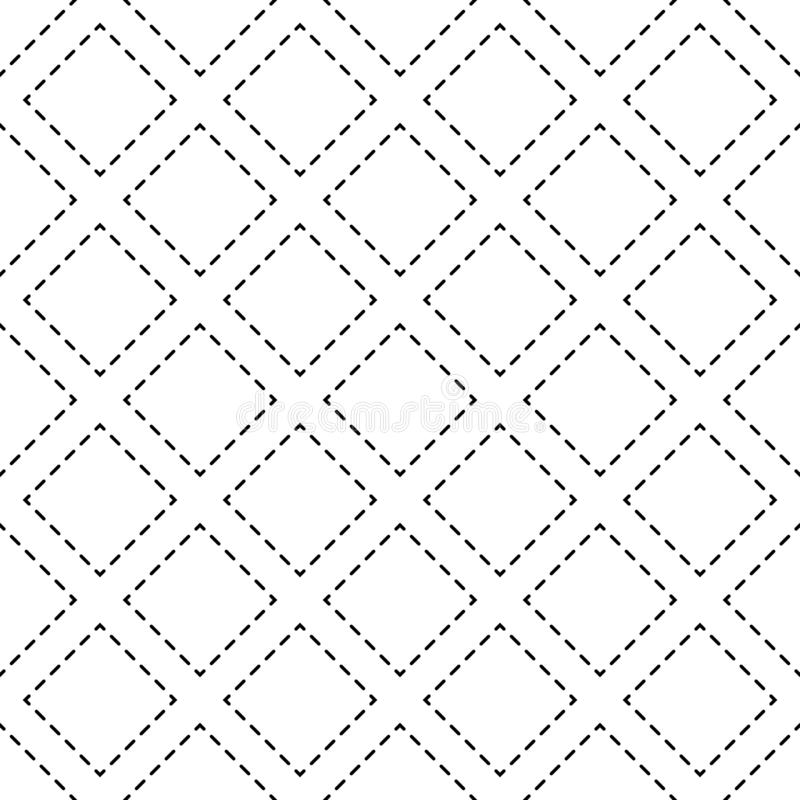 Vector seamless pattern. Modern stylish texture. Repeating geometric tiles with dotted rhombus royalty free illustration