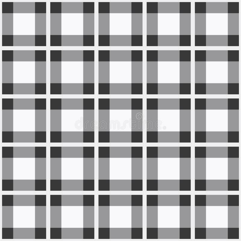Vector seamless pattern. Monochrome checkered tartan plaid design royalty free illustration