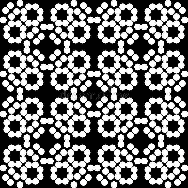 Vector seamless pattern, monochrome mosaic texture, ornamental b royalty free illustration