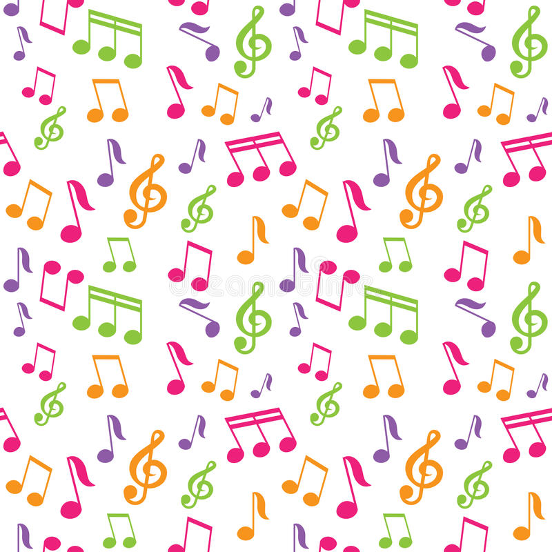 Vector seamless pattern with music notes royalty free illustration
