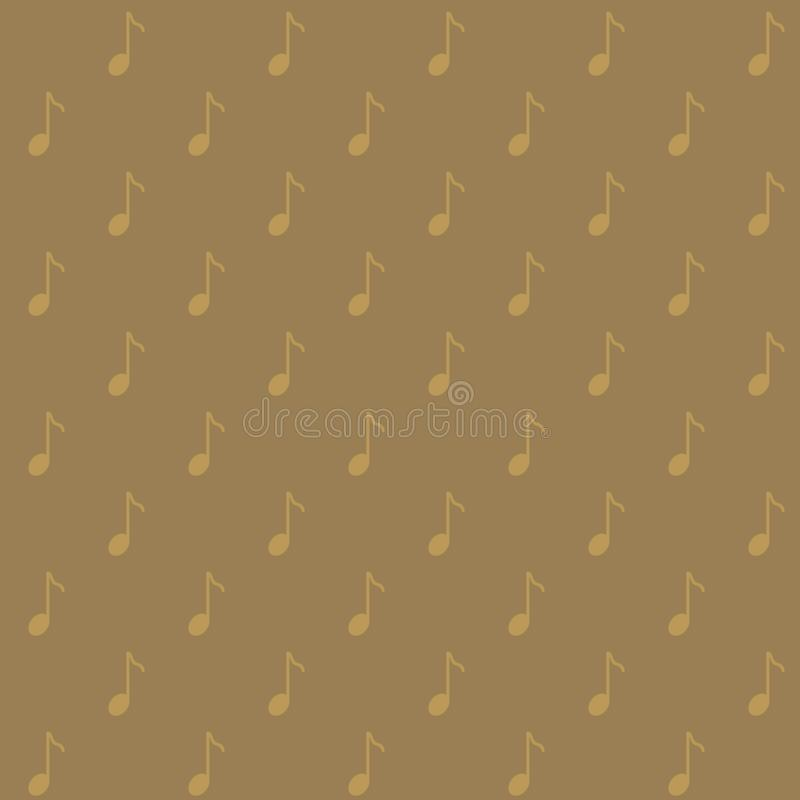 Vector seamless pattern of musical note in simple and minimalist style royalty free illustration