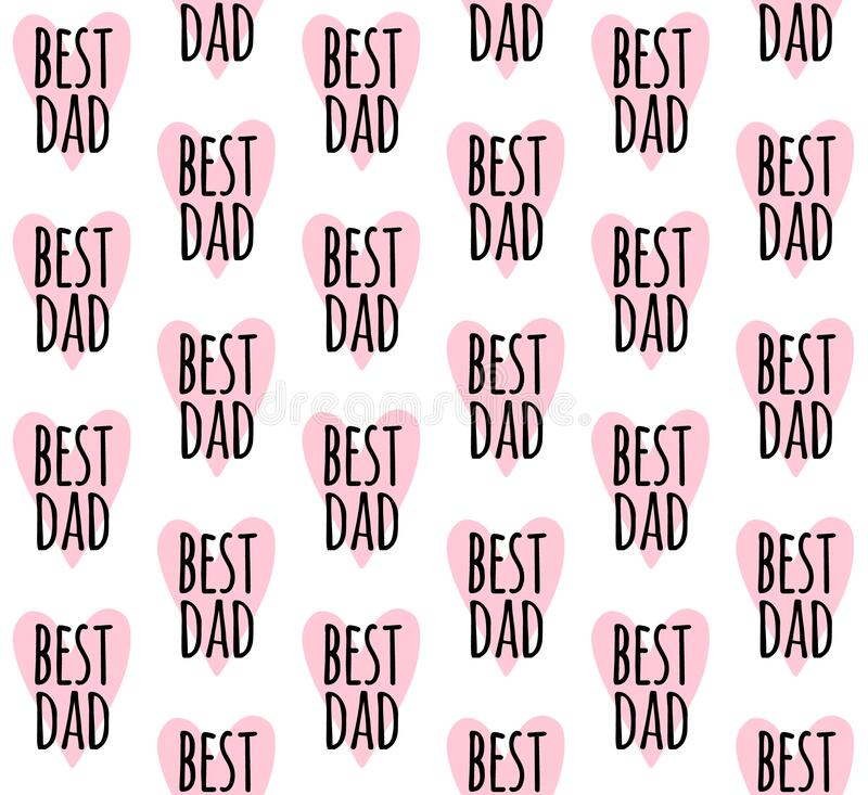 Free Vector Seamless Pattern Of Best Dad Lettering Royalty Free Stock Images - 220695859