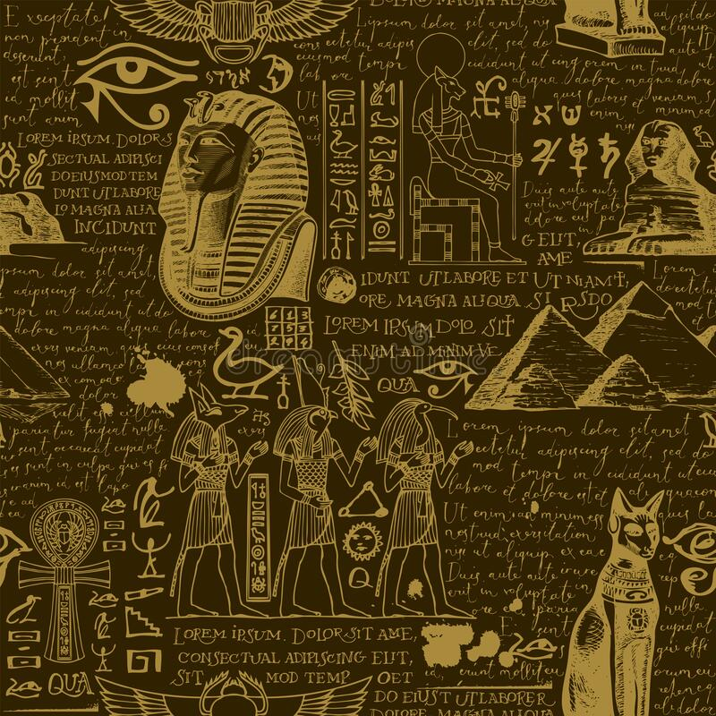 Free Vector Seamless Pattern On The Ancient Egypt Theme Stock Photo - 214721930