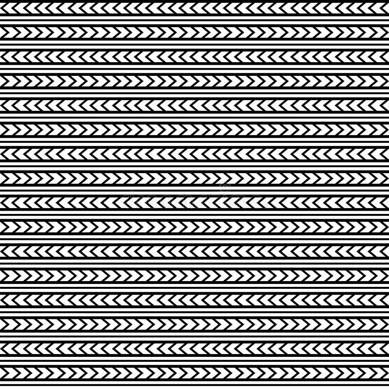 Vector seamless pattern ornament maori, ethnic style. stock illustration