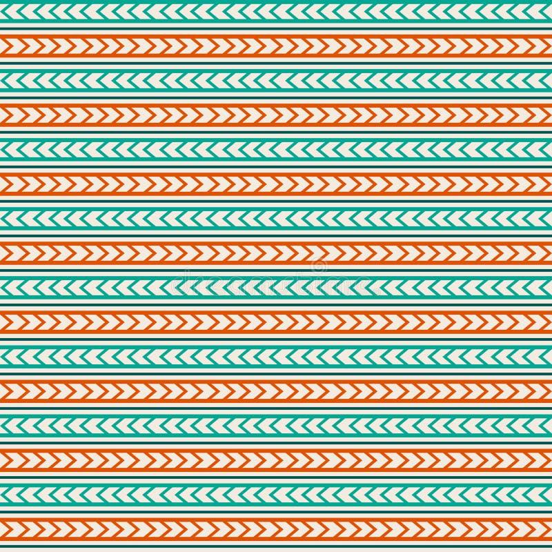 Vector seamless pattern ornament maori, ethnic. royalty free illustration