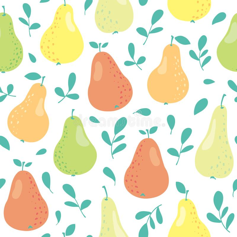 Vector seamless pattern with pears royalty free stock image