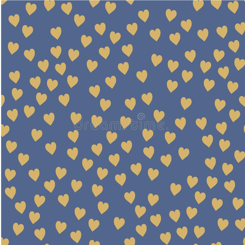 Vector seamless pattern. Randomly disposed hearts. Cute background for print on fabric, paper, scrapbooking. stock illustration