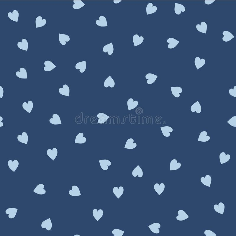 Vector seamless pattern. Randomly disposed hearts. Cute background for print on fabric, paper, scrapbooking royalty free illustration