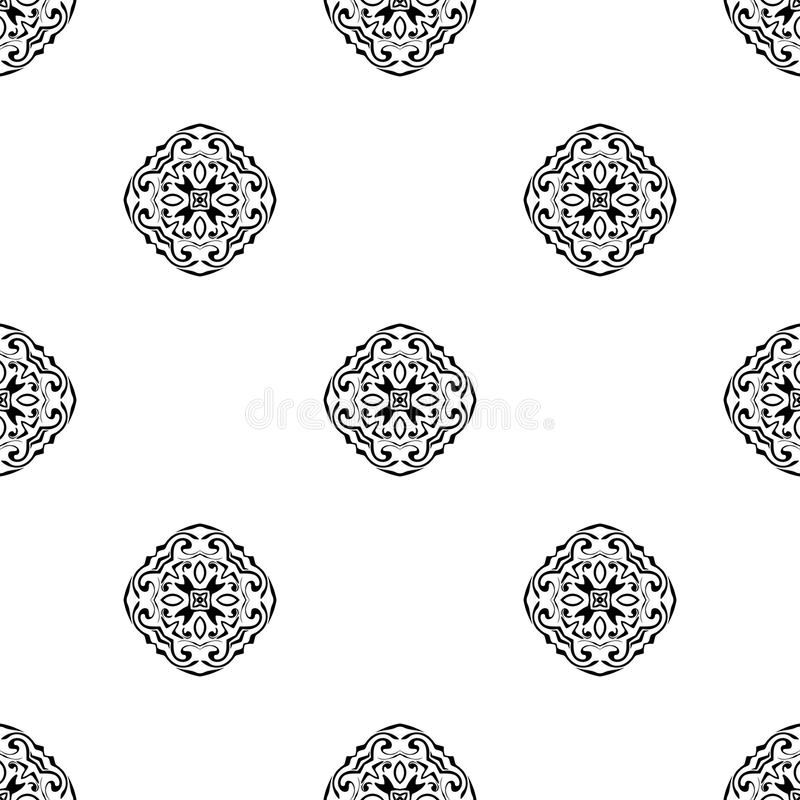 Vector seamless pattern. Repeating geometric. black and white. Seamless pattern stock illustration
