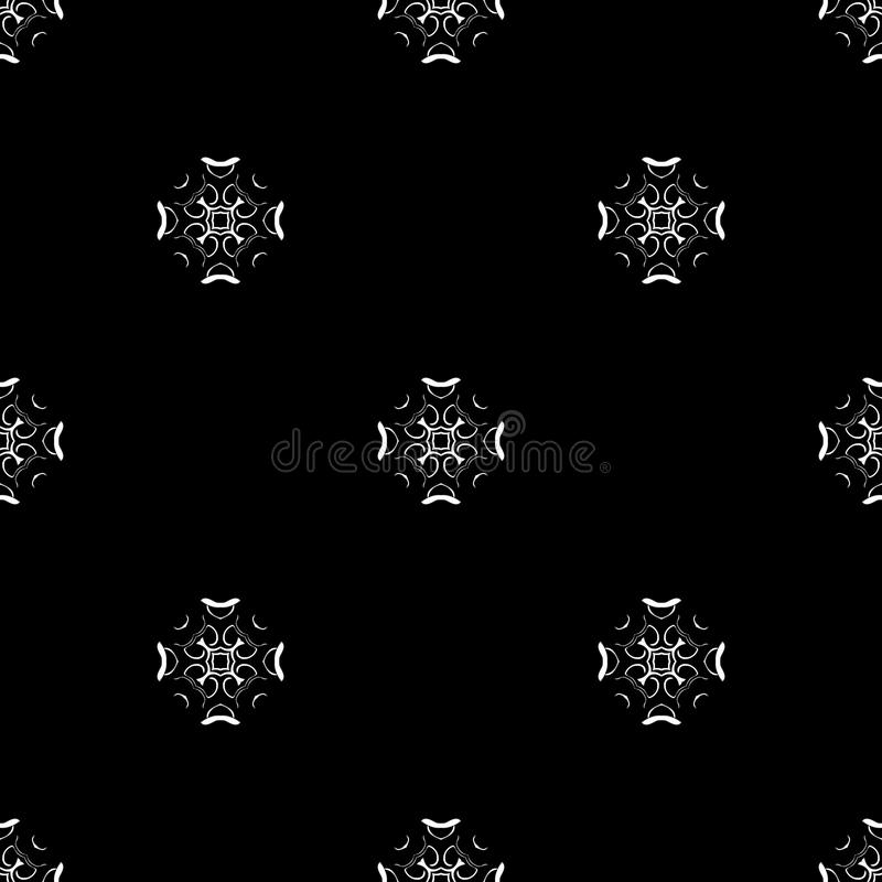 Vector seamless pattern. Repeating geometric. black and white stock images