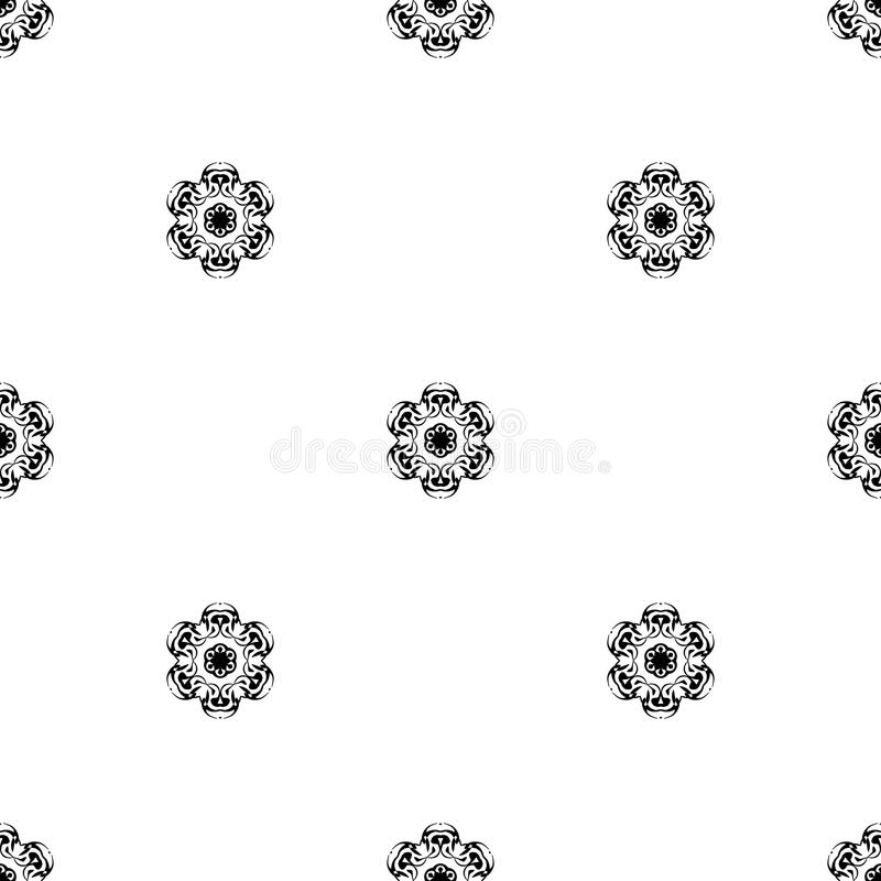 Vector seamless pattern. Repeating geometric. black and white se stock photo