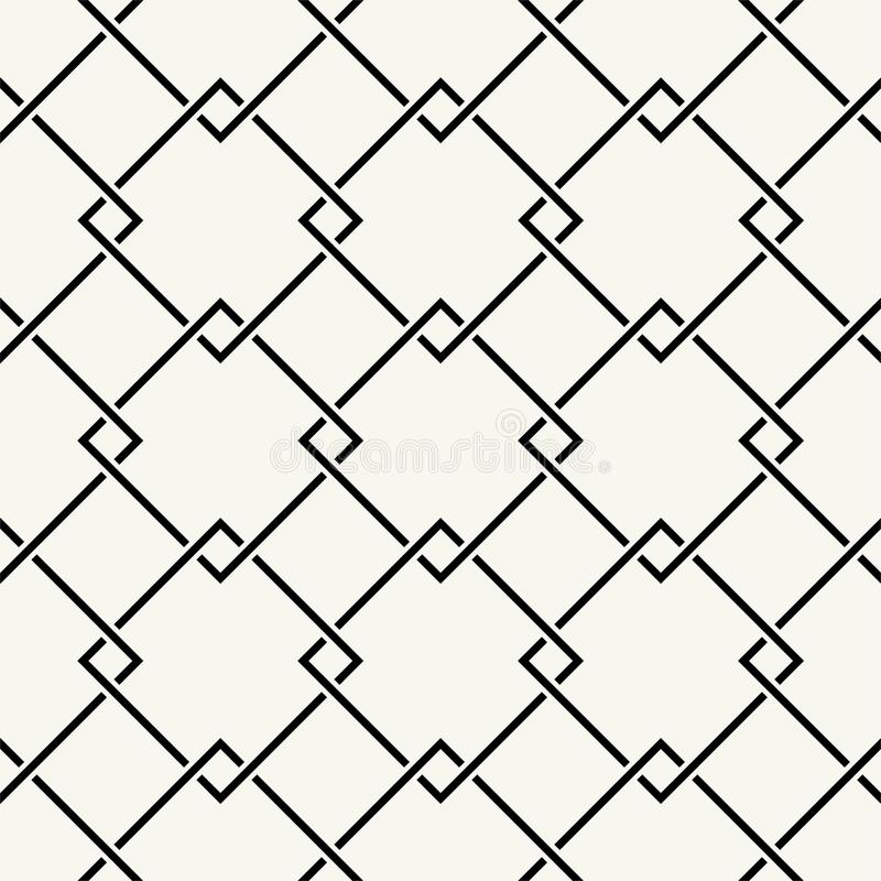 Vector seamless pattern. Repeating intertwining cordage, ropes. Vector seamless pattern Modern stylish texture. Repeating intertwining cordage, ropes stock illustration