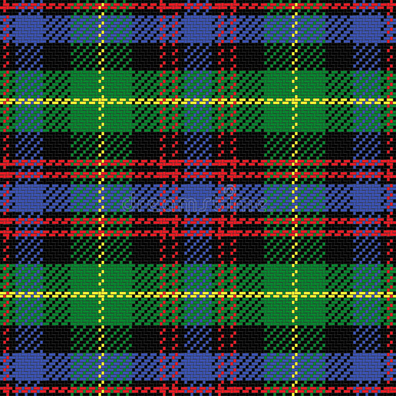 Free Vector Seamless Pattern Scottish Tartan Black Watc Stock Photo - 36771170