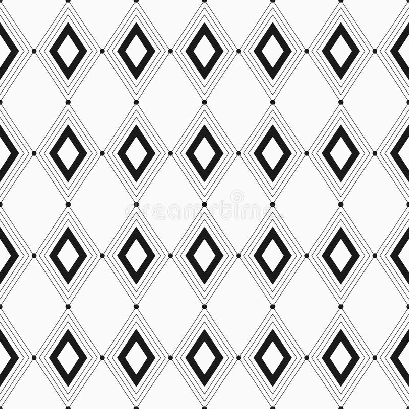 Vector seamless pattern. Seamless geometric background with rhombuses. stock illustration