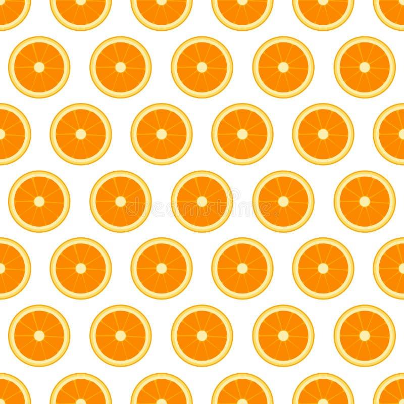 Vector seamless pattern with sliced oranges. Vector illustration. Design element for for cafe or restaurant or web and print desi stock illustration