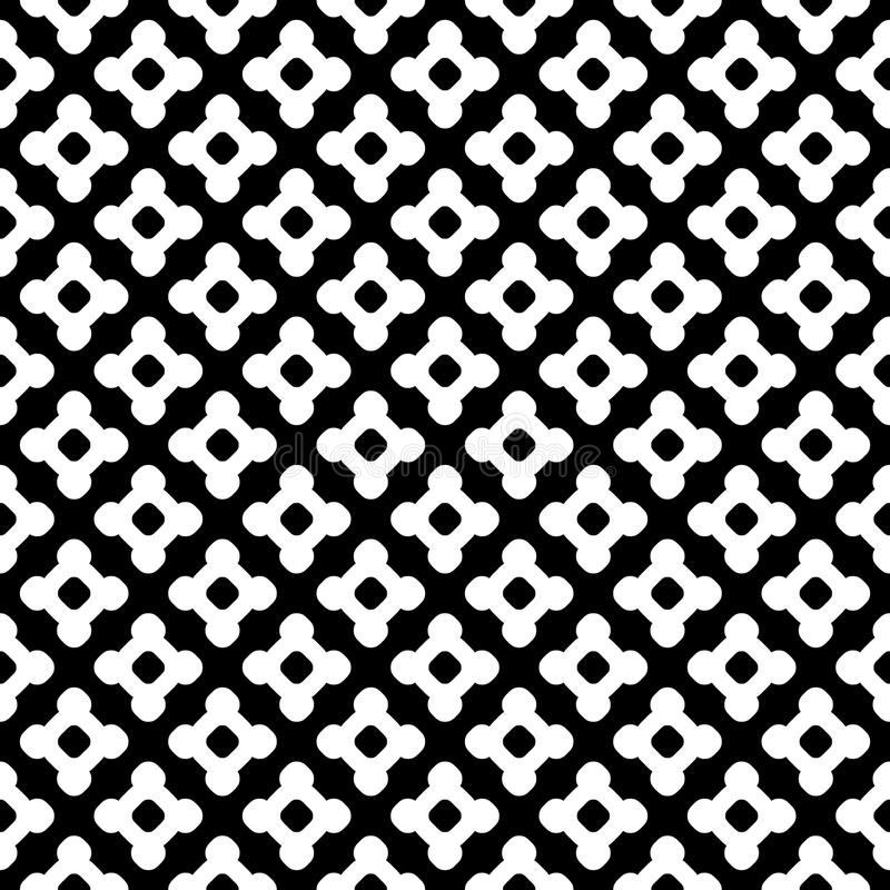 Vector seamless pattern, smooth lines, repeat tiles. Vector monochrome seamless pattern. Abstract black & white geometric texture, simple figures, smooth lines vector illustration