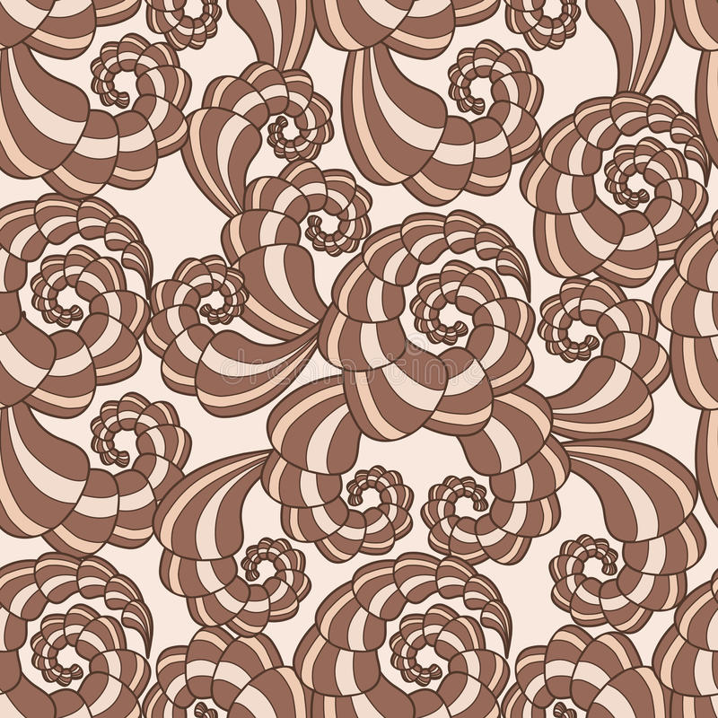 Download Vector Seamless Pattern With Spirals Stock Vector - Image: 25662151