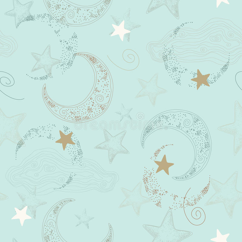 Download Vector Seamless Pattern With Stars Stock Vector - Image: 12914856