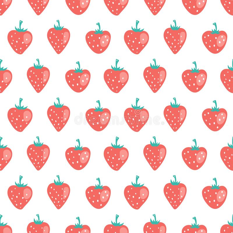 Vector seamless pattern with strawberry royalty free stock images