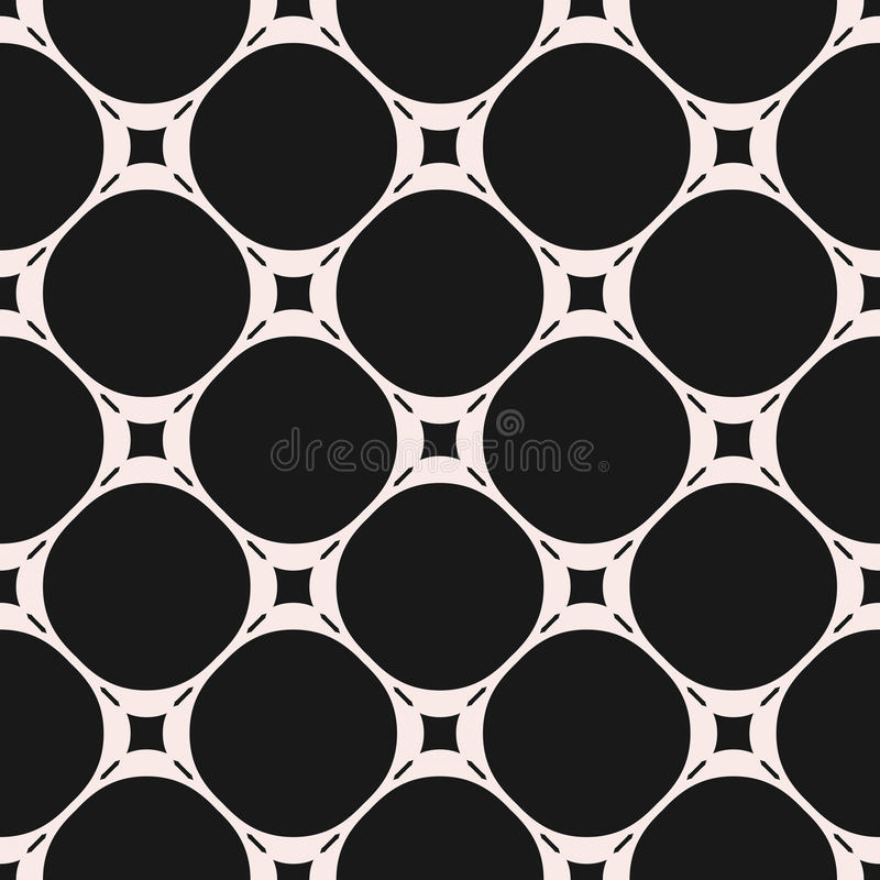 Vector seamless pattern, subtle geometric texture with circles stock illustration