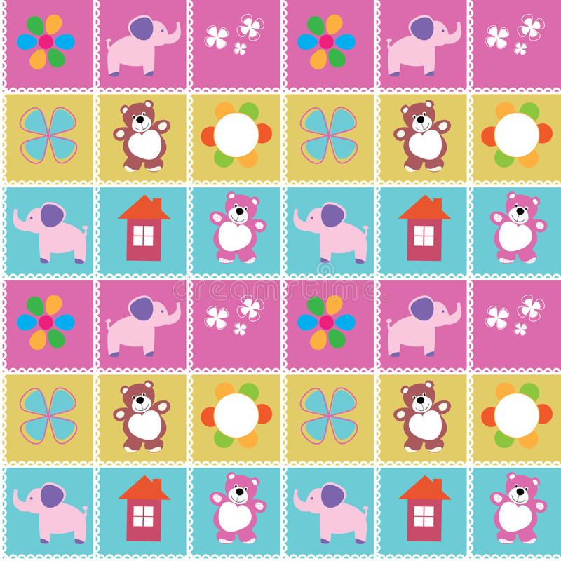 Download Vector Seamless Pattern Toys Stock Vector - Image: 37118504