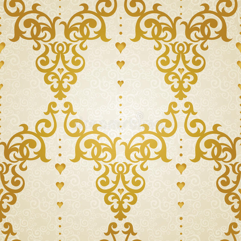 Vector seamless pattern in Victorian style. royalty free illustration