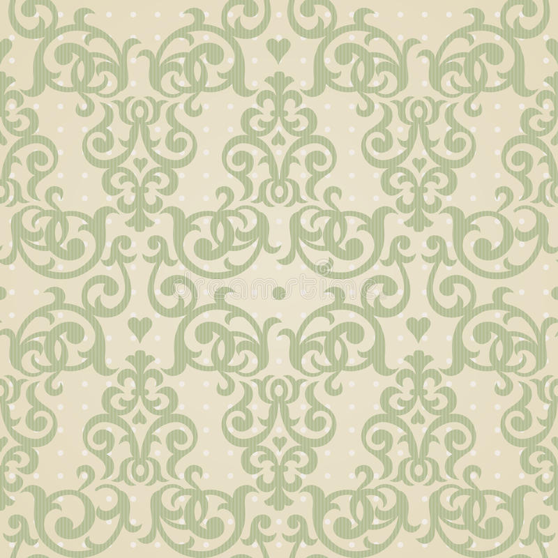 Vector seamless pattern in Victorian style. Element for design. stock illustration