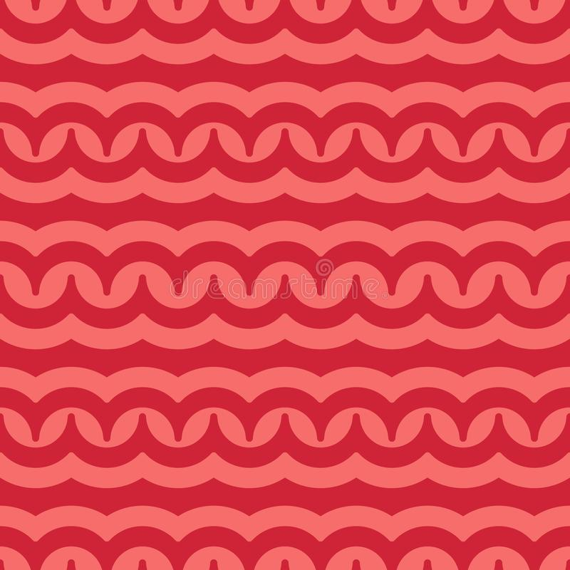 Vector seamless pattern with waves. Retro abstract dark ornament for textile, prints, wallpaper, wrapping paper, web etc.  stock illustration