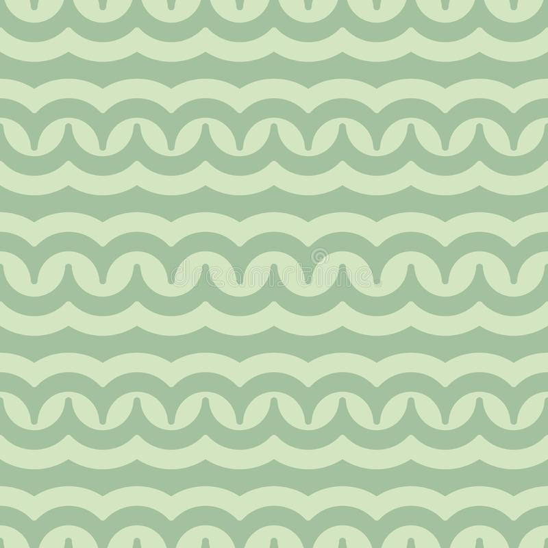 Vector seamless pattern with waves. Retro abstract dark ornament for textile, prints, wallpaper, wrapping paper, web etc.  royalty free illustration