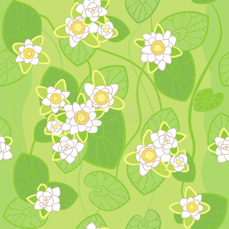 Download Vector Seamless Pattern Of White Lotus Stock Vector - Image: 23690034