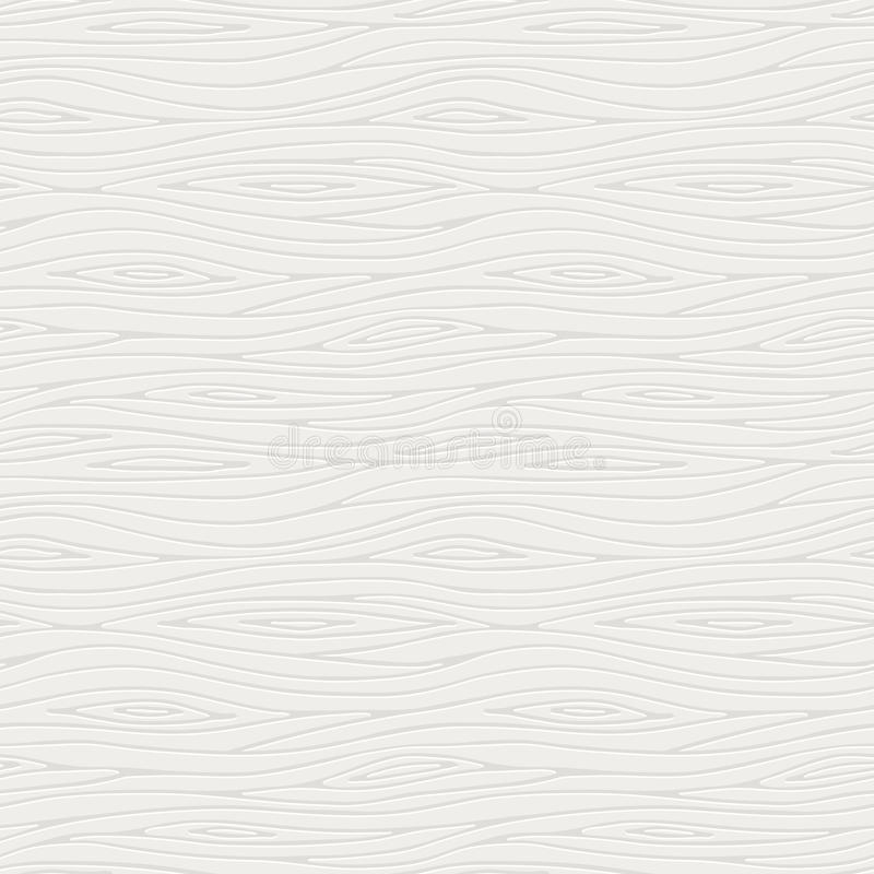 Vector seamless pattern of a white wooden texture stock image