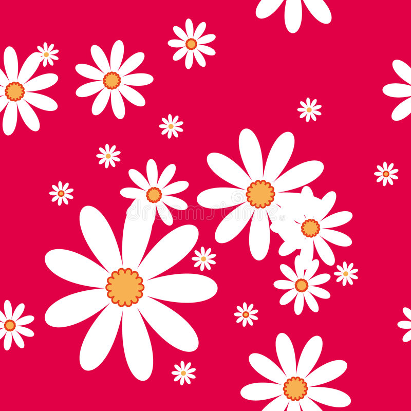 Free Vector Seamless Pattern With Camomiles Stock Photography - 6455142