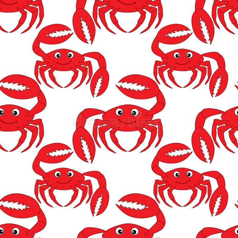 Free Vector Seamless Pattern With Cute Crabs. Crab Seamless Pattern Vector Illustration. Stock Photos - 95364963